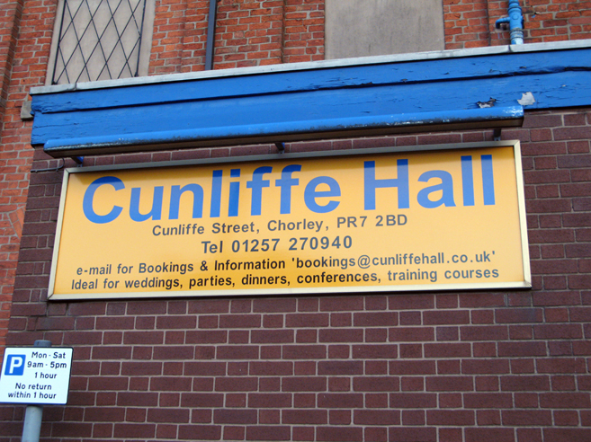 Cunliffe Hall Sign