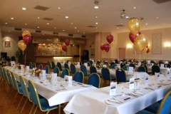 Chorley Cunliffe Hall set up with balloons