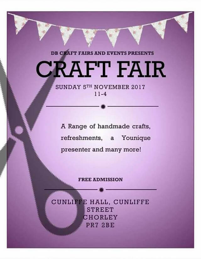 Craft Fair in Chorley 5th Nov